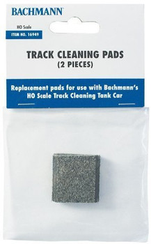Bachmann 16949 HO Scale Track Cleaning Replacement Pads (2-Pack)