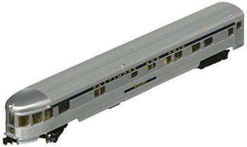 Bachmann 14553 N Scale Streamline Fluted Observation Car with Lighted Interior - B&O 85'