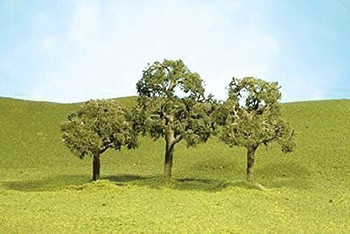 Bachmann 32107 N Scale 2 inches 2.25 inches Walnut Trees 4 Per Box