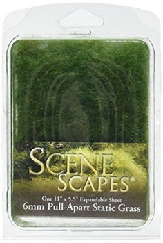 Bachmann Industries SceneScapes Pull Apart Static Grass, Dark Green, 6mm