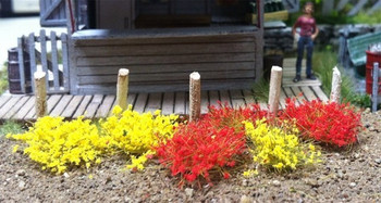 Bachmann 31034 Scenery SceneScapes Grass Tufts, Yellow/Red, 6mm