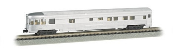 Bachmann 14554 N Scale Streamline Fluted Observation Car w/Lighted Interior 85'