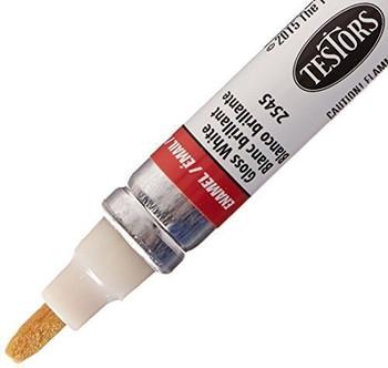 TESTOR 2545C 1/3OZ White Gls Marker 1 Gloss