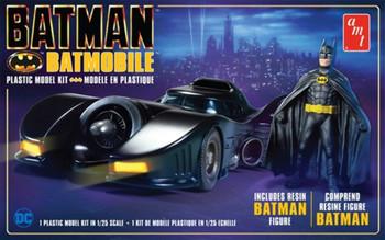 AMT 1107 1:25 Batman 1989 Batmobile W/Resin Batman Figure Scale Model Kit