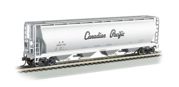 Bachmann 19142 HO Scale 4 Bay Cylindrical Grain Hopper Canadian Pacific