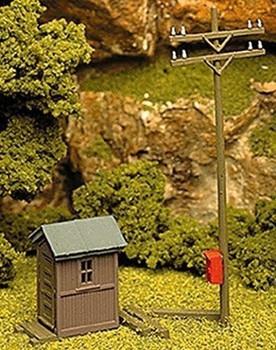 Atlas 705 HO Building Kit Telephone Shanty & Pole