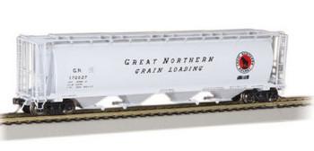Bachmann 19111 HO Scale 4 Bay Cylindrical Grain Hopper Great Northern