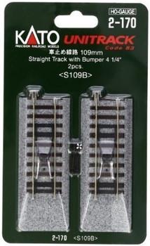 """Kato 2-170 HO Scale 109mm 4-1/4"""" Straight Bumper (2)"""