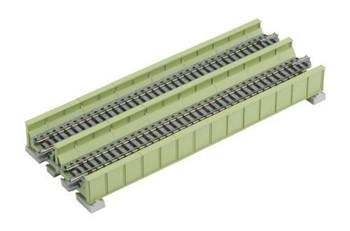 "Kato 20-456 N 186mm 7-5/16"" Double Plate Girder Bridge, Lt Grn"