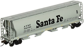 Bachmann 19102 HO Scale Santa Fe 4 Bay Cylindrical Grain Hopper