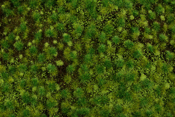 """Bachmann 32922 All Scales Medium Green Tufted Grass Mat One 11.75"""" X 7.5"""" Sheet SceneScapes"""