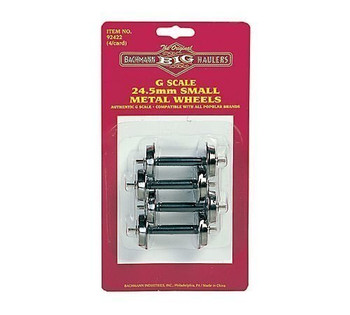 "Bachmann Large ""G"" Scale 24.5mm Small Metal Wheel Set (4 per Card)"