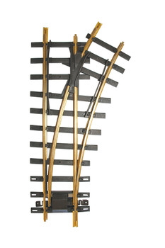 Bachmann 94658 Large Scale 30 Degree 4' Diameter Turnout, Right Brass Track