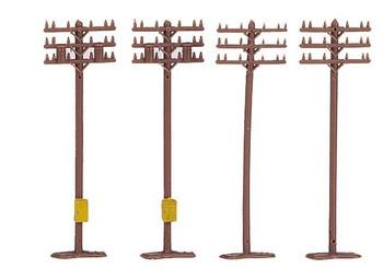 Bachmann 42506 N Scale TELEPNE POLES