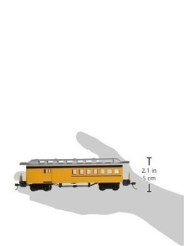 Bachmann 13503 HO Scale Combine Painted Unlettered Car, Yellow