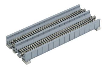 "Kato 20-460 N Scale Unitrack 7-5/16"" Double Track Plate Girder Bridge Gray"