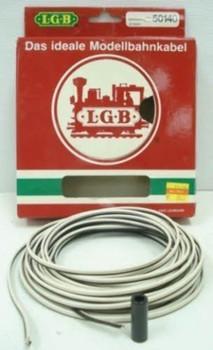 LGB 50140 2 Conductor Wire, Black/White, 65-Feet x 7-Inch