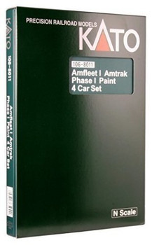 Kato 1068011 N Amfleet I Amtrak Phase I Paint Train 4-Car Set
