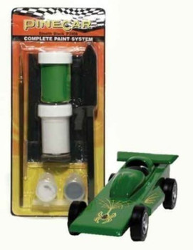 PineCar P3958 GEAR RIPPIN' GREEN COMPLE