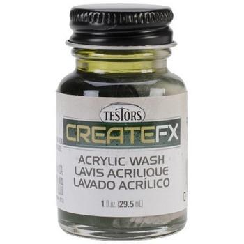 Createfx Acrylic Wash 1oz-Olive Green