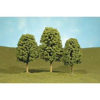 Bachmann 32006 HO Scale inches 4 inches Deciduous Trees 3 Per Box