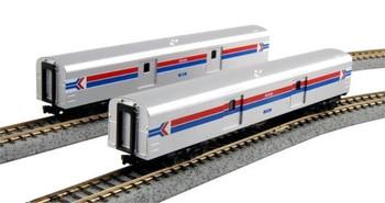 Kato 106-3512 N Scale Amtrak Smoothside Baggage Car 2-Car Set #1075 & 1076