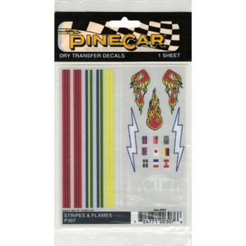 PineCar P307 STRIPES AND FLAMES DRY TR