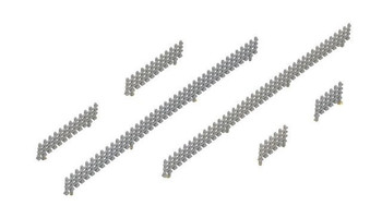 Kato 23-223 N Fence Sections, 3 Lengths (8)