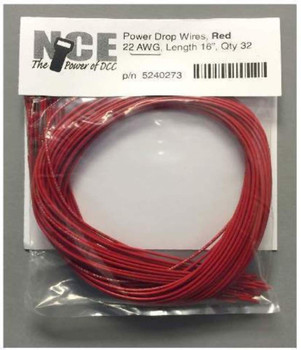 NCE 5240273 PWR DRP WIRE RED 32PK