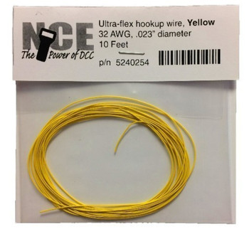 NCE 5240254 YELLOW WIRE 32AWG 10FT