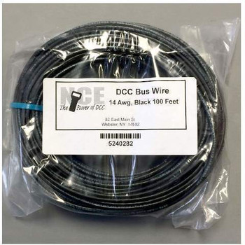 NCE 5240282 DCC MAIN BUS WIR BLK 100'