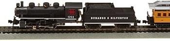 Bachmann Durango and Silverton - N Scale Ready to Run Electric Train Set Designed for Advanced Train