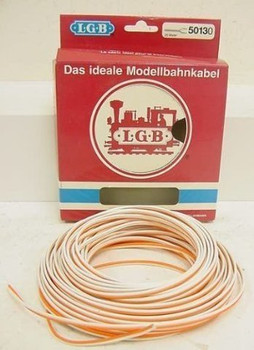 LGB 50130 2-Conductor Wire Orange/white (20 Meters)