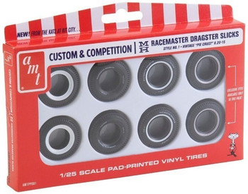AMT PP001 1:25 Custom Racemaster Dragster Slicks 8 Pack