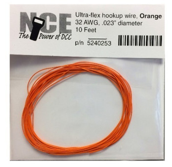 NCE 5240253 ORANGE WIRE 32AWG 10FT