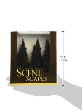 """Bachmann 32001 HO Scale 5""""- 6"""" Pine Trees - 6 Per Box"""