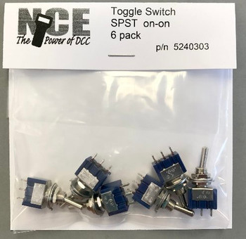 NCE 5240303 TS6S SPST TOGGLE 6/PK