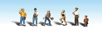 Woodland Scenics HO Scale Scenic Accents Figures/People Baseball Players II (6)