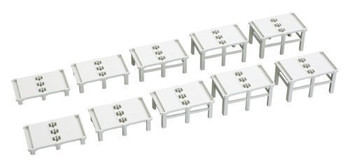 Kato 23-049 N Double Track Incline Auxiliary Pier Set