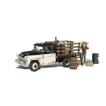 Henry's Haulin 1955 Chevy Truck w/Figure & Acc. N Scale Woodland
