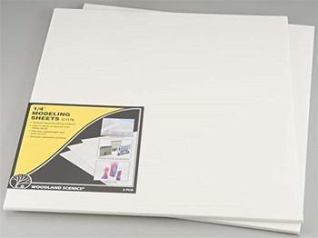 WOODLAND SCENICS C1176 1/4 x 16 x 18 Modeling Sheets (2)
