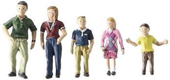 Woodland Scenics SP4452 1.5-Inch Scene Setters Figurine, Family, 5/Pack