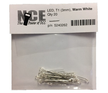 NCE 5240262 WARM WHITE LED 3MM QTY20