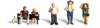 Woodland Scenics HO Scale Scenic Accents Figures/People Full-Figured Folks (5)
