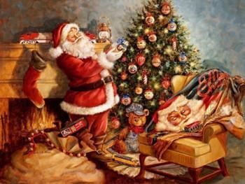 LNL33057 Welcome Mat, Santa's Finishing Touch