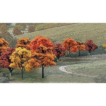 """Fall Deciduous Value Pack Ready Made Trees 3/4""""- 2"""" Woodland Scenics"""