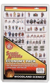 Woodland Scenics A2053 HO Assorted Figure Economy Set