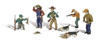 Woodland Scenics HO Scale Scenic Accents Figures/People Set Rabbit Hunt