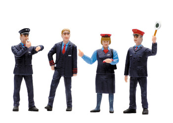 LGB 53002 G Set of Figures for Railroad Workers in Switzerland