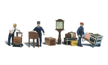 Woodland Scenics 2211 N Scale Scenic Accents Depot Workers & Accessories
